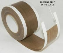 Zoned teflon tape and adhesive-free zones